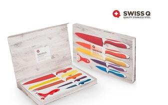 Conjunto de 5 Facas Suíças Swiss Line em Aço Inoxidável por apenas 17,50€!