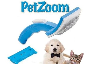 Tire os pelos aos seus animais com a Escova Tira Pelos Pet Zoom por apenas 4,90€!