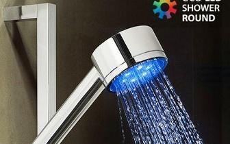 Torne o seu duche mais animado com um Chuveiro redondo com Luz LED por apenas 9,90€!