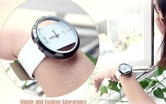 Relógio de pulso para Senhora com pulseira de couro em várias cores por apenas 12,90€!