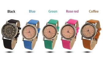 Relógio de Senhora com Pulseira de diferentes cores por apenas 11,90€!