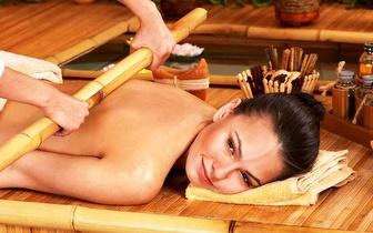 Massagem Corpo Inteiro com Bambus por 29€ em Carnaxide!