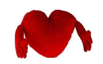 Coração de Peluche com Braços (70cm) por 9,90€!
