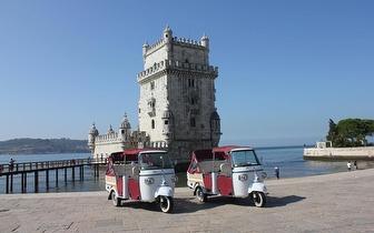 Passeio de Tuk Tuk em Lisboa com Guia Turístico + Degustação Vinho do Porto por 24€/Pessoa!