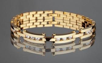 Elegante Pulseira Yves Camani banhada a Ouro por apenas 37,90€!