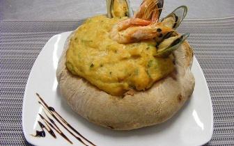 Menu de Açorda ao Jantar para 2 Pessoas à Beira Mar por 19€ em Sesimbra!
