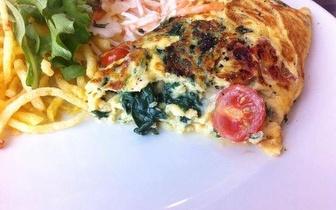 Menu Completo de Deliciosas Omeletes por 5,10€ no Amoreiras Plaza!