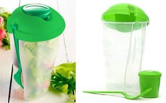 Transporte as Saladas na Saladeira de Plástico Salad to Go por 9,90€!